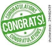 congrats stamp   Shutterstock .eps vector #294482459