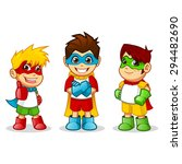 high quality kid super heroes...   Shutterstock .eps vector #294482690
