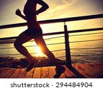 young fitness woman legs... | Shutterstock . vector #294484904