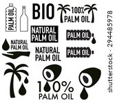 palm oil icons vector set or... | Shutterstock .eps vector #294485978