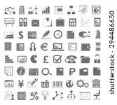 black icons   business and... | Shutterstock .eps vector #294486650