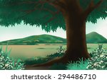 beautiful mountain and big plain | Shutterstock . vector #294486710