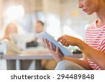 smiling young women using...   Shutterstock . vector #294489848