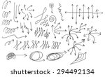 vector hand drawn arrows set... | Shutterstock .eps vector #294492134