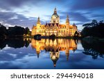 Stock photo hannover new city hall or rathaus in germany 294494018