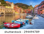 Vernazza Town On The Coast Of...