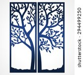 two fold wedding invitation... | Shutterstock .eps vector #294499250