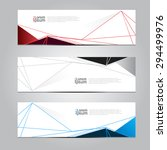 vector design banner background.... | Shutterstock .eps vector #294499976