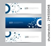 vector design banner network... | Shutterstock .eps vector #294500048