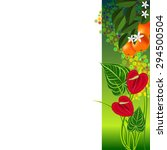 vector background with tropical ... | Shutterstock .eps vector #294500504