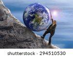 sisyphus metaphor man... | Shutterstock . vector #294510530