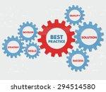 best practice  quality ... | Shutterstock .eps vector #294514580