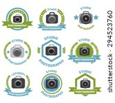 photo studio logo set. | Shutterstock .eps vector #294523760