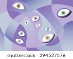 eyes looking at your privacy.   Shutterstock . vector #294527576