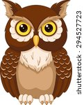 Stock vector owl 294527723