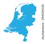 blue map of netherlands | Shutterstock .eps vector #294529220