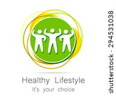 healthy lifestyle   template... | Shutterstock .eps vector #294531038
