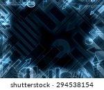 modern business technology... | Shutterstock . vector #294538154