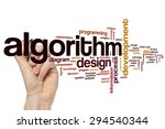 Small photo of Algorithm concept word cloud background