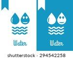 water  drop logo | Shutterstock .eps vector #294542258