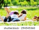 happy family having weekend in... | Shutterstock . vector #294545360