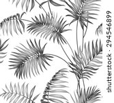 topical palm leaves on seamless ... | Shutterstock .eps vector #294546899