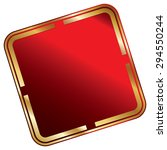 red blank square metallic label ...