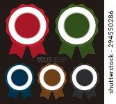vector   blank medal  ribbon ...