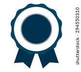 blue blank medal  ribbon  label ...