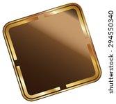 brown blank square metallic...
