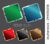 vector   blank square metallic...