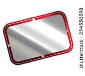 red and silver blank rectangle...