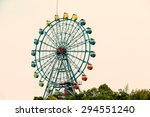 Amusement Park Ferris Wheel In...