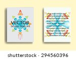 aztec modern brochure design... | Shutterstock .eps vector #294560396