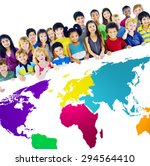 global globalization world map... | Shutterstock . vector #294564410