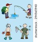 illustration men on vacation....   Shutterstock .eps vector #294565940