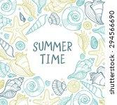 abstract vector summer...   Shutterstock .eps vector #294566690