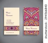 business card. vintage... | Shutterstock .eps vector #294566840