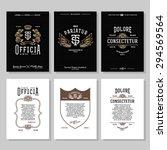 set vintage hipster typography... | Shutterstock .eps vector #294569564