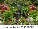 Lush Tropical Garden With...