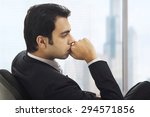 businessman in deep thought | Shutterstock . vector #294571856
