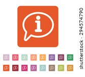 the information icon. info and... | Shutterstock .eps vector #294574790