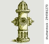 vector image. fire hydrant | Shutterstock .eps vector #294581270