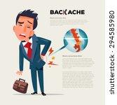 business man feeling pain in... | Shutterstock .eps vector #294585980