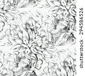 seamless pattern with pencil... | Shutterstock . vector #294586526