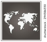 map world vector paper white on ... | Shutterstock .eps vector #294586550