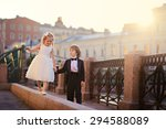 an elegant handsome little boy... | Shutterstock . vector #294588089