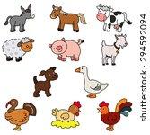 set of domestic animals   vector | Shutterstock .eps vector #294592094