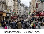 paris  france   june 2  2015 ... | Shutterstock . vector #294592226