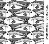 seamless fish background....   Shutterstock .eps vector #294594683